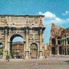 Postales: ROMA - ARCO DI COSTANTINO E COLOSSEO. Lote 24323412