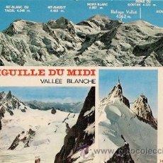 Postales: CHAMONIX - MONT-BLANC (HTE.-SAVOIE) - AIGUILLE DU MIDI. VALLEE BLANCHE. Lote 24342974