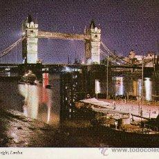 Postales: TOWER BRIDGE AT NIGHT, LONDON Nº KLV 57 SIN CIRCULAR. Lote 24499967