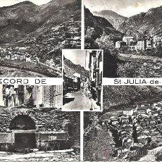 Postales: PS2554 POSTAL CON 5 VISTAS DE ST. JULIA DE LORIA - VALL'S D'ANDORRA. STÉ DES CARTES POSTALES APA. Lote 24890299