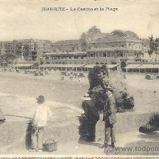 Postales: PS3291 POSTAL DOBLE DE BIARRITZ. CIRCULADA EN 1910 ENTRE BIARRITZ Y CARTAGENA. Lote 24890328