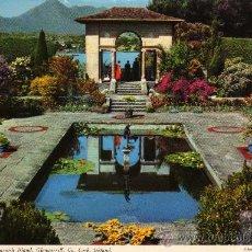 Postales: ITALIAN GARDENS, GARNISH ISLAND, GLENGARRIFF, CO. CORK, IRELAND. ESCRITA CIRCULADA CON SELLO. Lote 24909335