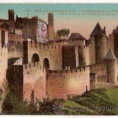 Postales: ANTIGUA POSTAL 29 CITE DE CARCASSONNE ENSEMBLE DE LA PORTE DE L'AUDE LL. Lote 24963227