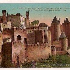 Postales: ANTIGUA POSTAL 42 CITE DE CARCASSONNE ENSEMBLE DE LA PORTE DE L'AUDE LL. Lote 24963435