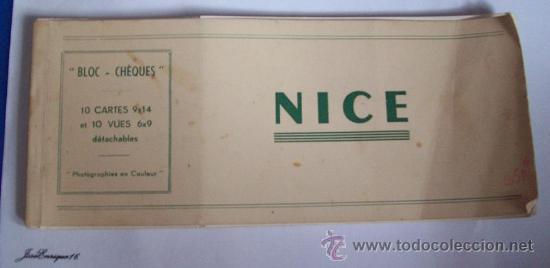 NICE 10 CARTES 9 X 14.- ET 10 VUES 6 X 9 DÉTACHABLES. - BLOC CHÉQUES (Postales - Postales Extranjero - Europa)