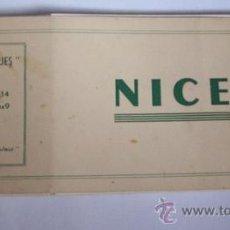 Postales: NICE 10 CARTES 9 X 14.- ET 10 VUES 6 X 9 DÉTACHABLES. - BLOC CHÉQUES. Lote 26377786