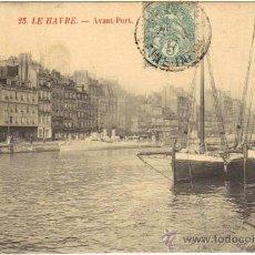 Postales: LA HAVRE - 25 DELANTE DEL PUERTO. Lote 25385980