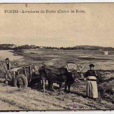 Postales: PORTO. OPORTO. PORTUGAL. ALREDEDORES. CARRO DE BOIX. SIN CIRCULAR.. Lote 25430826