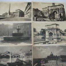 Postales: 6 ANTIQUÍSIMAS POSTALES DE ROMA, IMAGENES DE ARCOS VARIOS – EXCELENTE ESTADO. Lote 27169570