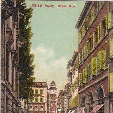 Postales: VEVEY - 30169 GRAN CALLE (GRAND RUE). Lote 25528155
