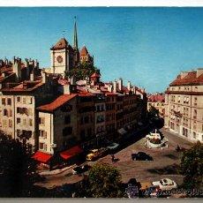 Postales: SUIZA. GENEVE. PLACE DU BOURG-DE-FOUR ET CATHÉDRALE ST-PIERRE.. Lote 27190806