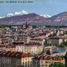 Postales: ANTIGUA POSTAL - GENÈVE - Nº 758 VUE GÉNÉRALE ET LE MONT BLANC. Lote 25854730