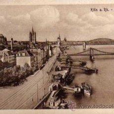 Postales: ANTIGUA POSTAL - .KÖLN A. RH. - LEYSTAPEL - ESTENGEL. Lote 25952492