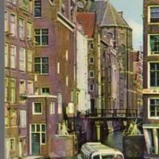 Postales: MINI POSTAL - OLD AMSTERDAM - THE LITTLE LOCK - MEDIDAS 9 X 7 CENTIMETROS. Lote 25989076