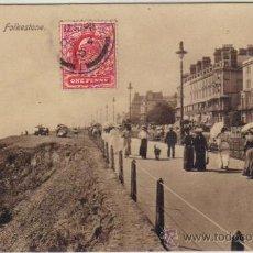 Postales: FOLKESTONE - THE LEAS. Lote 26061848