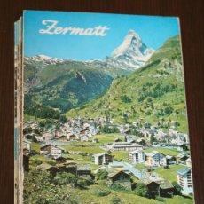Postales: MINI LIBRITO DESPLEGABLE CON 18 FOTOS DE ZERMATT - MEDIDAS 10 X 7 CENTIMETROS. Lote 130478468