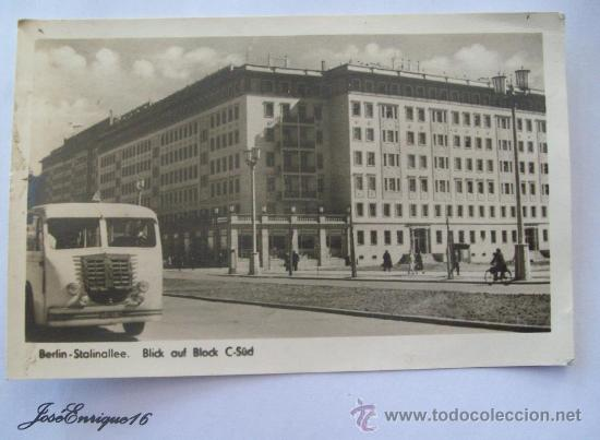 BERLIN STALINALLEE, BLICK AUF BLOCK C-SÜD. (Postales - Postales Extranjero - Europa)