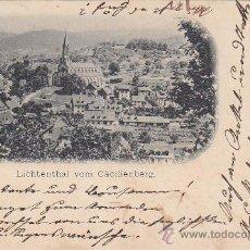 Postales: MONASTERIO CISTERCIENSE DE LICHTENTHAL EN BADEN-BADEN. POSTAL CIRCULADA ULTIMO DIA AÑO 1897. RARA.. Lote 26261772