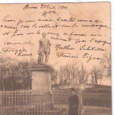 Postales: TARJETA POSTAL DE FRANCIA. RENNES. LE THABOR SATATUE DE DUGUESCLIN. Nº 117. E. A.. Lote 26279705