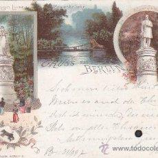 Postales: BERLIN EN 1897. BONITA Y RARA POSTAL J. MIESLER CIRCULADA DE BERLIN A COLONIA (ALEMANIA). LLEGADA.. Lote 26306026