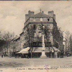 Postales: BUENA POSTAL DE MILLAU -AVEYRON -FRANCIA -PLACE DE MANDAROUS DE A.G. SIN Nº. Lote 26546376