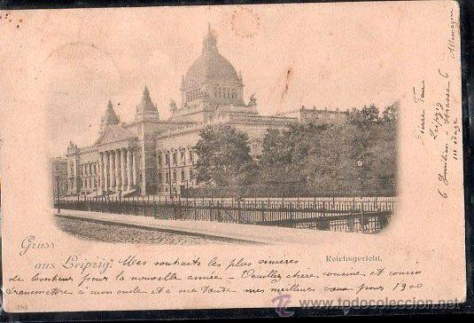 TARJETA POSTAL DE GRUSS AUS LEIPZIG - REICHSGERECHT (Postales - Postales Extranjero - Europa)