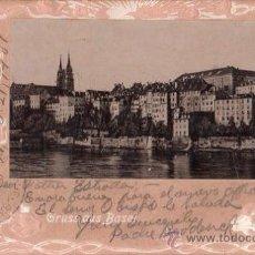 Postales: TARJETA POSTAL DE GRUSS AUS BASEL . Lote 26539067