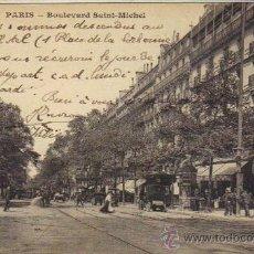 Postales: PARÍS - 4460 BULEVARD SAINT MICHEL. Lote 26579117