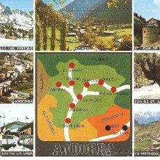 Postales: POSTAL VALLS D`ANDORRA - CIRCULADA CON INTERESANTES SELLOS ANDORRANOS, VER FOTOGRAFIAS. Lote 26686484