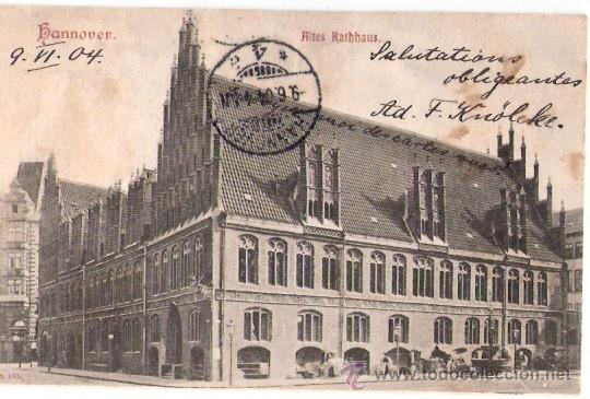 TARJETA POSTAL. ALEMANIA. HANNOVER. ALTES RATHHAUS. Nº 191. (Postales - Postales Extranjero - Europa)