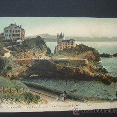 Postales: BIARRITZ. HÓTEL CHÁTEAU. CIRCULADA, ESCRITA Y CON SELLO DE 15 CTS DE ALFONSO XIII. SOBRE 1920.. Lote 26904730