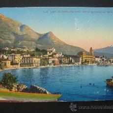 """Postales: """"LAGO DI GARDA..."""". CIRCULADA AL JUEZ DE MONTILLA, ESCRITA Y SELLO 10 CTS ALFONSO XIII (23-III-16). Lote 27255586"""