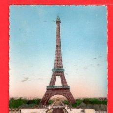 Postales: POSTAL DE PARIS LA TORRE EFIEL EDITADA LECONTE SIN CIRCULAR . Lote 27512100