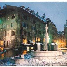 Postales: SUIZA. GENEVE. PLACE DU BOURG-DE-FOUR LE SOIR.. Lote 27730523