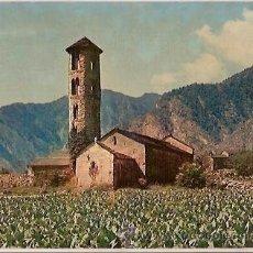 Postales: POSTAL A COLOR Nº 925 VALLS ANDORRA SANTA COLOMA ESGLESIA ROMANICA V CLAVEROL. Lote 27937052