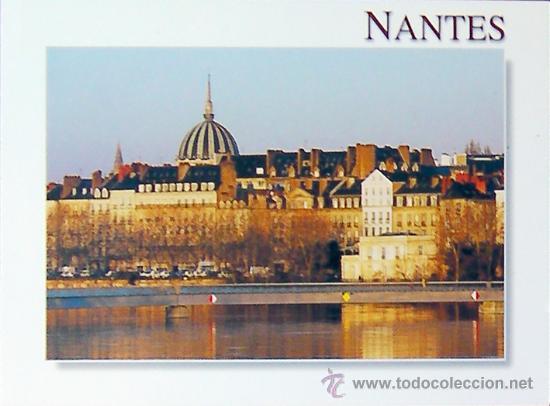 nantes francia les quaits loire athantiqu comprar postales