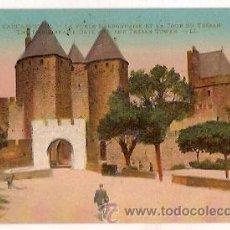 Postales: ANTIGUA POSTAL 104 CARCASSONNE LA PORTE NARBONNAISE ET LA TOUR DU TRESAN LL. Lote 28157157