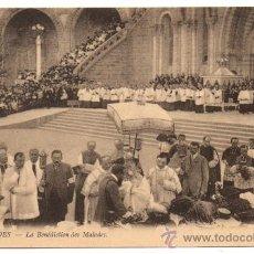 Postales: LOURDES - LA BÉNÉDICTION DES MALADES.. Lote 28191692