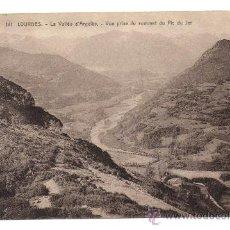 Postales: LOURDES. - LA VALLÉE D'ARGELÈS. - VUE PRISE DU SOMMET DU PIC DU JER.. Lote 28223915