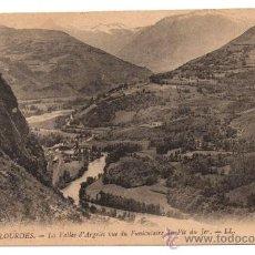 Postales: LOURDES. - LA VALLÉE D'ARGELÈS VUE DU FUNICULAIRE DU PIC DU JER.. Lote 28224169