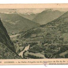 Postales: LOURDES. - LA VALLÉE D'ARGELÈS VUE DU FUNICULAIRE DU PIC DU JER. - (C.1925). Lote 28224209