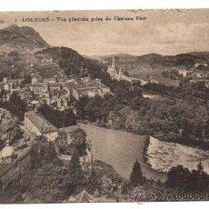 Postales: LOURDES. - VUE GÉNÉRALE PRISE DU CHÂTEAU FORT. - (C.1920). Lote 28224577
