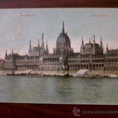 Postales: POSTAL ANTIGUA BUDAPEST-PARLAMENT CIRCULADA . Lote 28368645