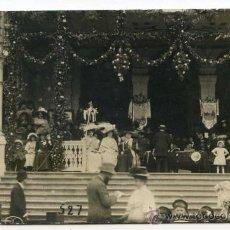 Postales: BAGNERES DE LUCHON, 1909. FETE DES FLEURS DES ENFANTS. TRIBUNA PRESIDENCIAL, POSTAL FOTOGRÁFICA. Lote 28372894