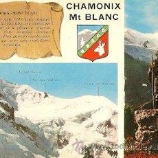 Postales: CHAMONIX-MONT-BLANC (H.-S. - FRANCIA) - LE MASSIF DU MONT-BLANC. Lote 28383013