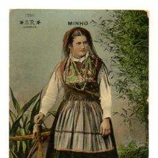 Cartoline: TIPO DEL PAÍS. COSTUMES PORTUGUEZES. MINHO. (S. R. LISBOA). Lote 28479373