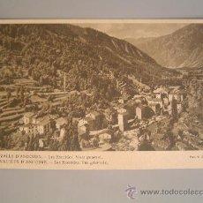 Postales: MUY BUENA POSTAL DE VALLS D`ANDORRA.- LES ESCALDES VISTA GENERAL. Lote 28471962