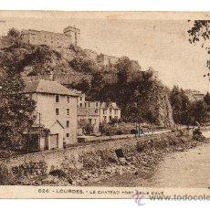 Postales: LOURDES. - LE CHÂTEAU FORT ET LE GAVE (C.1915). Lote 28554779