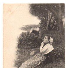 Postales: TYPE DE CATALANE. LA CHIRRITADE AL POUAL (LA RÉGALADE A LA CRUCHE). SÈGUELA-COMBES, AMÉLIE-LES-BAINS. Lote 28569819