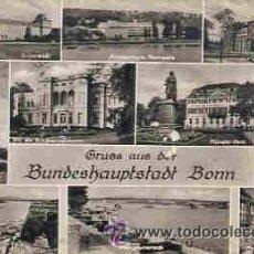 Postales: BONN (ALEMANIA) - GRUSS AUS DER BUNDESHAUPTSTADT BONN - DIVERSOS ASPECTOS (LEVES RASPADURAS). Lote 28740356
